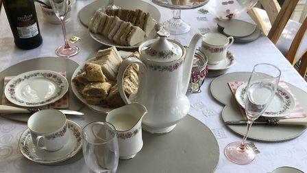 An online 80th birthday tea Picture: Supplied by Justine Rawlings