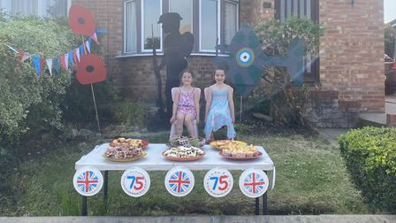 Alexa and Freya spent the week making cakes to give to passers by, as well as the impressive cardboa
