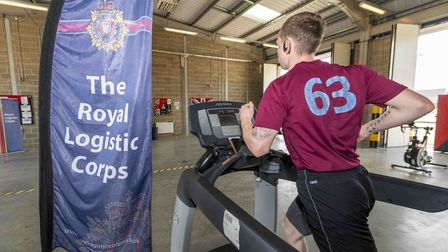 Soldiers in Colchester spent 75 hours running, rowing and cylcing to raise money for Colchester Food