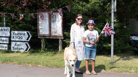 Residents in the village of Pettaugh celebrated VE Day with a street party. Jessica and Tommy Tydema