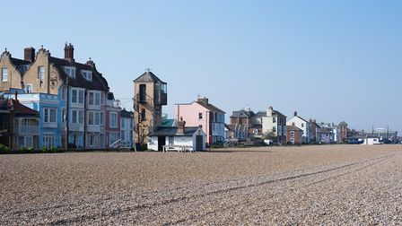 Aldeburgh beach would usually be packed with holiday makers at this time of year Picture: SARAH LUC