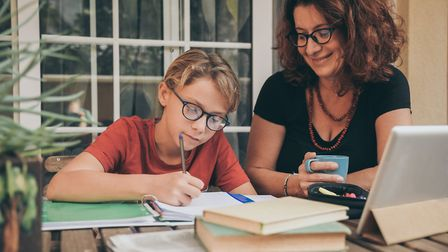 Homeschooling has become the norm for many parents, but schools could start to return next month Pic