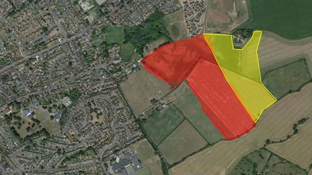 Plans for a 250-home estate and a huge business park have been submitted to Babergh District Council