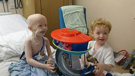 Archie Wilks and his twin brother Henry in hospital in 2019 Picture: WILKS FAMILY/ PA WIRE