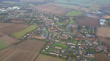 The village of Woolpit, Suffolk, where a man was shot in the chest on Saturday night Picture: MIKE P