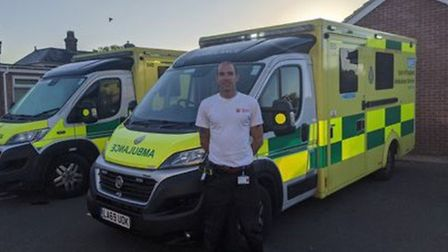 Adriaan Philipsen, who has been driving an ambulance during the coronavirus outbreak Picture: ESSEX