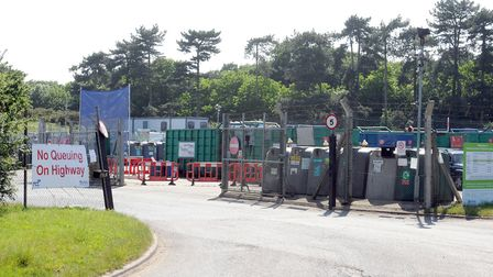 Suffolk recycling centres, like this one in Foxhall, will re-open on Thursday - but only to those wh