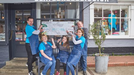 Clare and the team at Slate Cheese when it won a Suffolk Food and Drink Award 2019 Picture: Emma Kin