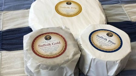 Suffolk Gold, Suffolk Brie and Suffolk Blue cheeses Picture: Suffolk Farmhouse Cheeses
