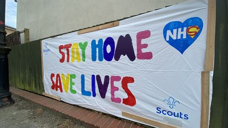 The special banner measures around one metre by two metres Picture: BARRIE HAYTER