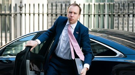 Secretary of State for Health and Social Care Matt Hancock arriving at Downing Street, London Pictur