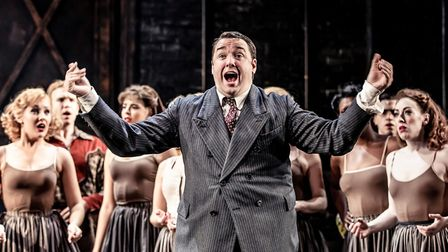 Jason Manford in Curtains The Musical which is being streamed online Credit: Richard Davenport