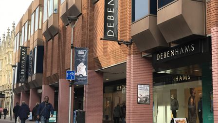 The Debenhams department store in Ipswich town centre is not included in the list of seven closures