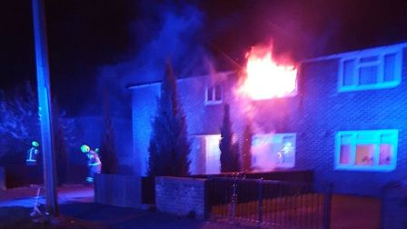 Two families have been left homeless after a fire broke out in Colchester Picture: ESSEX COUNTY FIRE