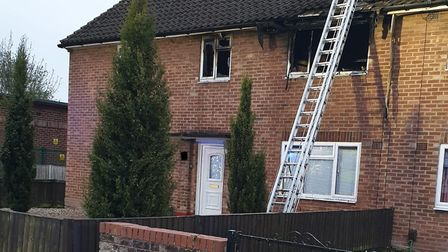 The blaze destroyed much of the house Picture: ESSEX COUNTY FIRE AND RESCUE SERVICE