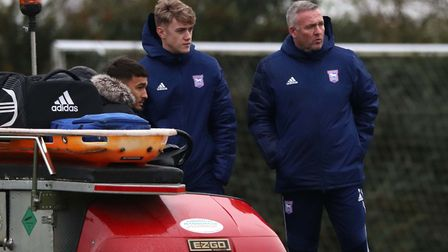 It's been a long road back for Jack Lankester, pictured with Ipswich Town boss Paul Lambert at Playf
