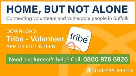 The Tribe Volunteer app and phoneline to help people in Suffolk during the coronavirus crisis Pictur