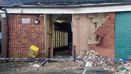 The Co-op in Debenham the morning after the raid Picture: KATY SANDALLS