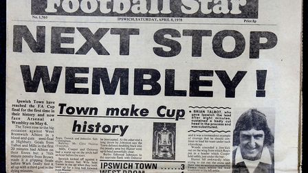 The Green'Un, then Football Star, reporting on Town's FA Cup semi-final win over WBA at Highbury in
