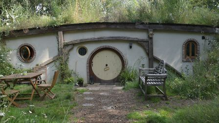 The outside of the Hobbit hole shaped accomodation which is now for sale. Picture: SARAH LUCY BROW