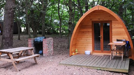One of the MegaPods at West Stow Pods. PICTURE: Gregg Brown