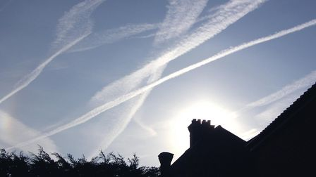 Contrails are a thing of the past - for now! Picture: RICHARD CORNWELL