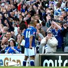 Danny Haynes celebrates another goal against Norwich in April 2008