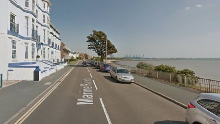 The collision happened in Marine Parade, Harwich. Picture: GOOGLE MAPS
