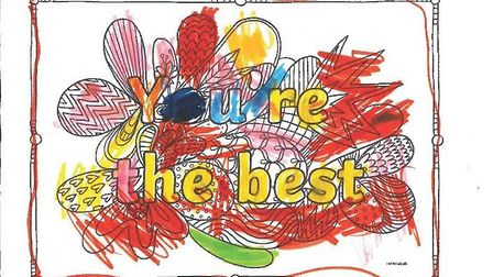 Children have made drawings thanking Suffolk police and other emergency services for their work duri