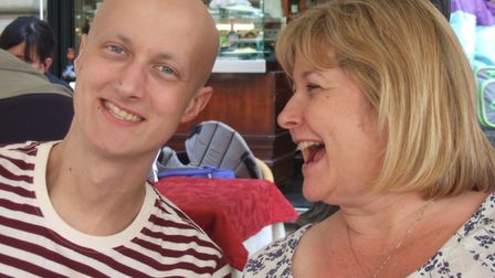 Nikki Bowdidge, CEO and Founder, with her son Tom, who was diagnosed with a soft tissue sarcoma at a