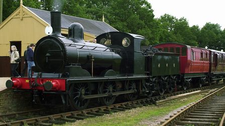 The 1912 built GER J15 steam locomotive launched services at the Mid Suffolk Light Railway. Picture
