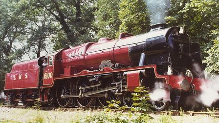 The Royal Scot with her steam up in 1975 during her stay at Bressingham. Picture: Archant files