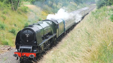 Once resident at Bressingham, Duchess of Sutherland has visited the Mid Norfolk Railway in preservat