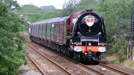 The Royal train was pulled by Duchess of Sutherland in 2002. PA Photo: Martin Rickett