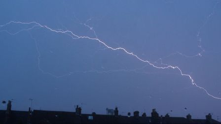 Angela Hatwell captured this picture of the lightning on Sunday evening in Norwich Road, Lowestoft.