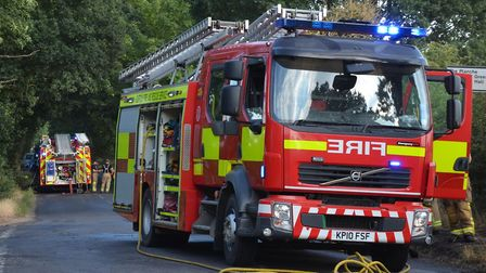 Suffolk Fire and Rescue Service are currently operating without 4.2% of their workforce. Picture:: S