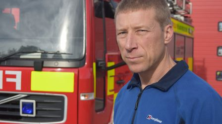 Phil Johnston is the chairman of the Fire Brigades Union (FBU) Suffolk branch and works at Lowestoft