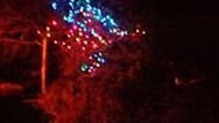 Christmas lights have been put up in Warwick Avenue, Woodbridge, as a tribute to the NHS. Picture: G