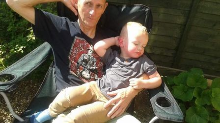A young Alfie and his grandad Trevor Picture: NICHOLA WHITE