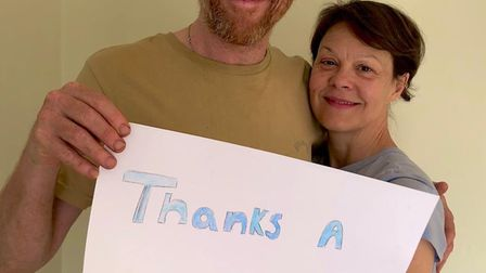 Suffolk-based actors Damian Lewis and Helen McCrory have thanked donators as their FeedNHS scheme ra