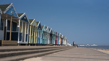 The beach in Southwold is deserted Picture: SARAH LUCY BROWN
