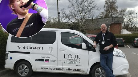 Ed Sheeran has made a generous donation to the Hour community Picture: Hour Community/ PA WIRE/ BEN