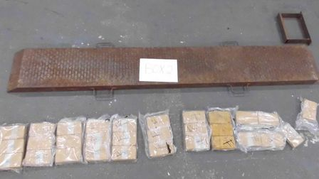 Border Force officers seized about 20kg of heroin hidden in a lorry at Harwich International Port P