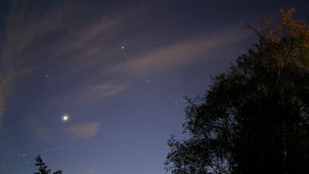 Did you see the stunning trail of satellites? Picture: STUART TAVENER