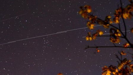 Some stunning pictures of the Starlink over Suffolk last night. Picture: JOHN FITCH