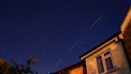 Did you see the stunning Starlink satellites over Suffolk last night? Picture: JOHN FITCH