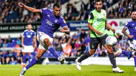 Kayden Jackson is Ipswich Town's joint-leading scorer this season with 11 goals. Picture: STEVE WALL