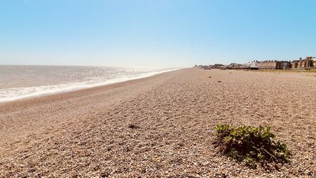The empty shores at Aldeburgh Picture: TIM DAY
