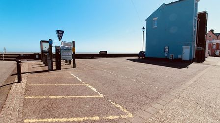 Empty car parks in Aldeburgh Picture: TIM DAY