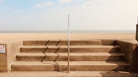 Few people are taking the steps in Aldeburgh Picture: TIM DAY